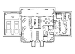 Modular home floor plan sample