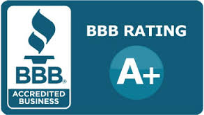 We are rated A+ on BBB